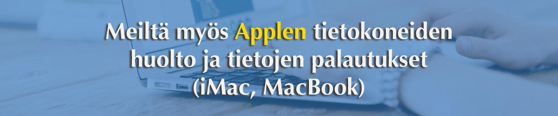 Mac-tietokonehuolto Tampereella