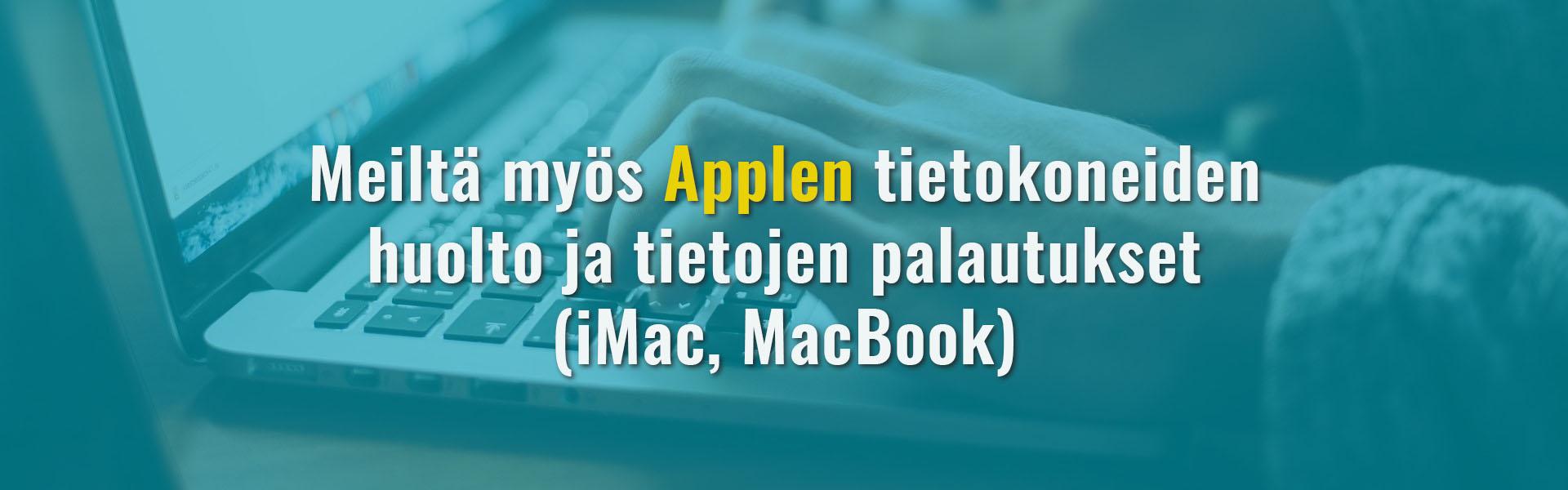 Mac-tietokoneiden huolto Tampereella